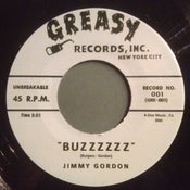 "Image of 7"" Jimmy Gordon : Buzzzz / The Carnations : Scorpion.  Rare split 7""."