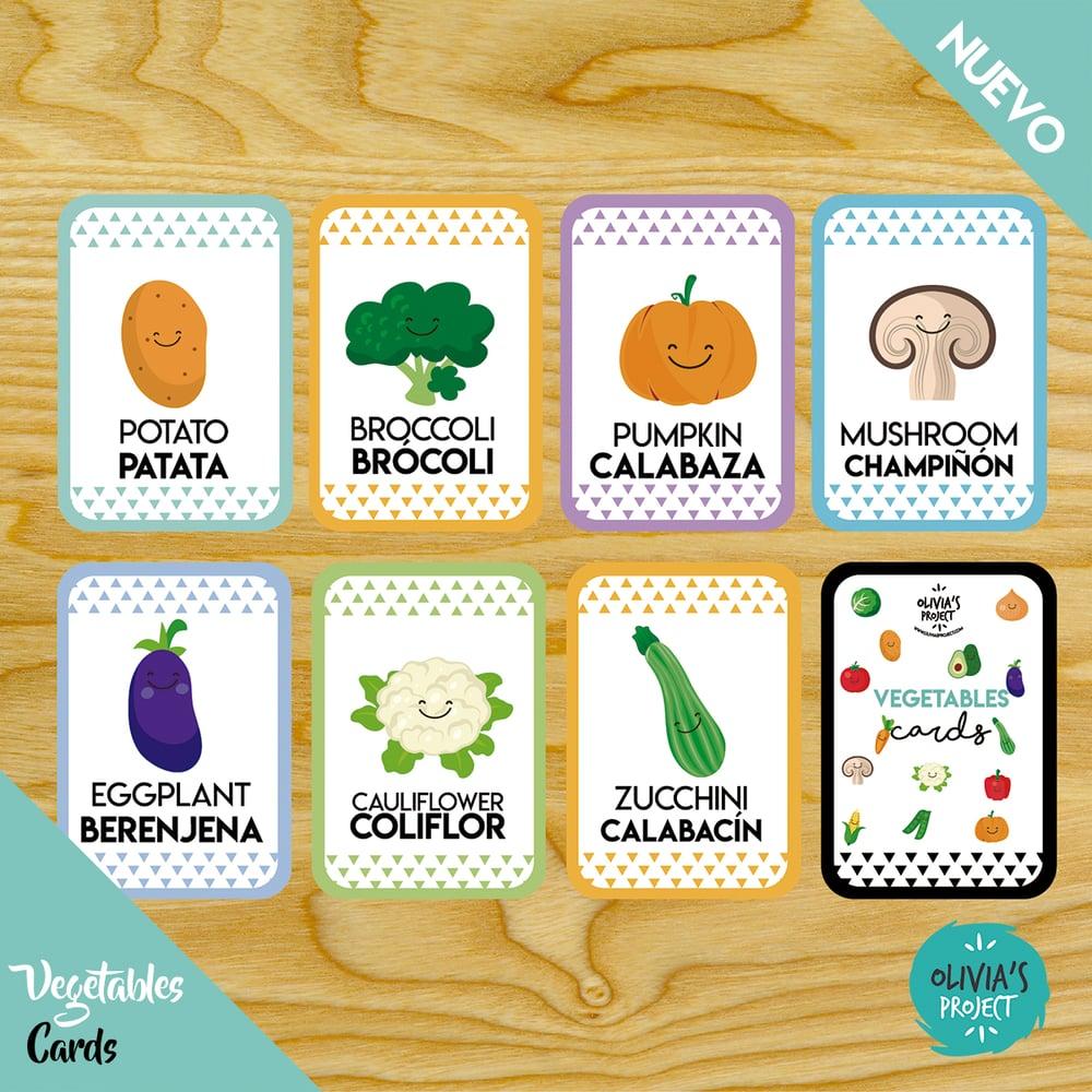 Image of Vegetables Cards Bilingües