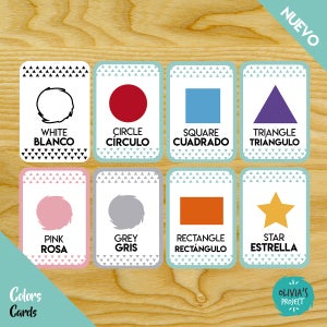 Image of Color & Shapes Cards Bilingües