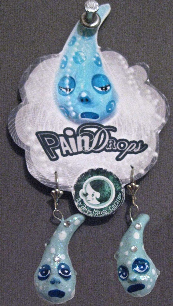 Image of Pain Drop Earrings #6 OF 7