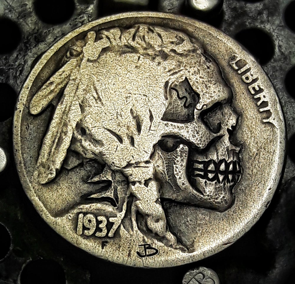 Image of Indian Skull Buffalo Nickel - Made To Order