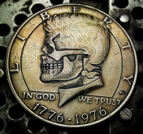 Image of Kennedy Half Dollar Skull - Made To Order