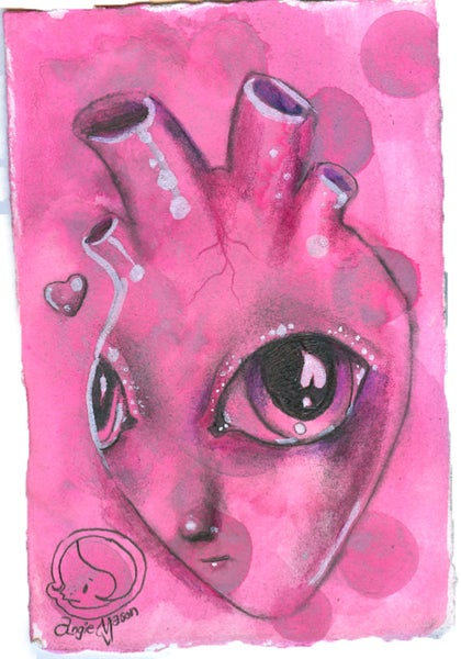 Image of 'My Alien Heart' Original Art