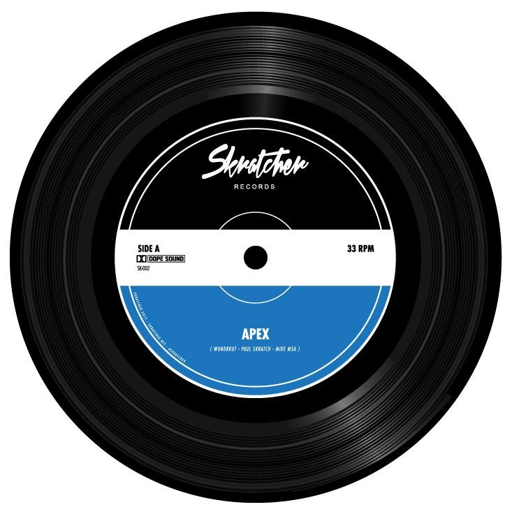 Image of APEX - SKRATCHER (WUNDRKUT, PAUL SKRATCH & MIKE MSA) 7""
