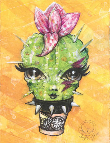 Image of Ms. Prickles (Stick it to the man)  8.5x11 Print