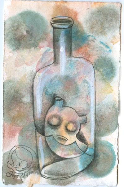 Image of Bottle Blueser - original drawing