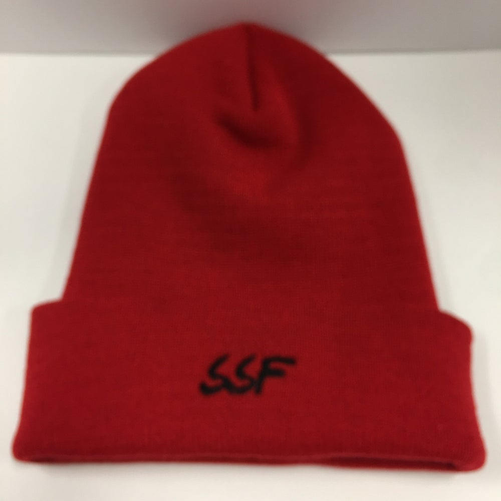 Image of South City Beanie (Red/Black)
