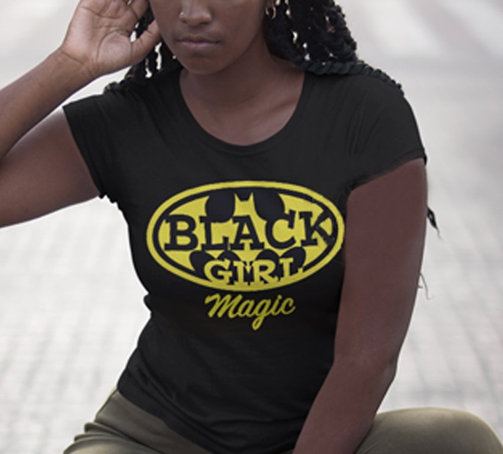 Image of BLACK GIRL (Batgirl) MAGIC / Black tee