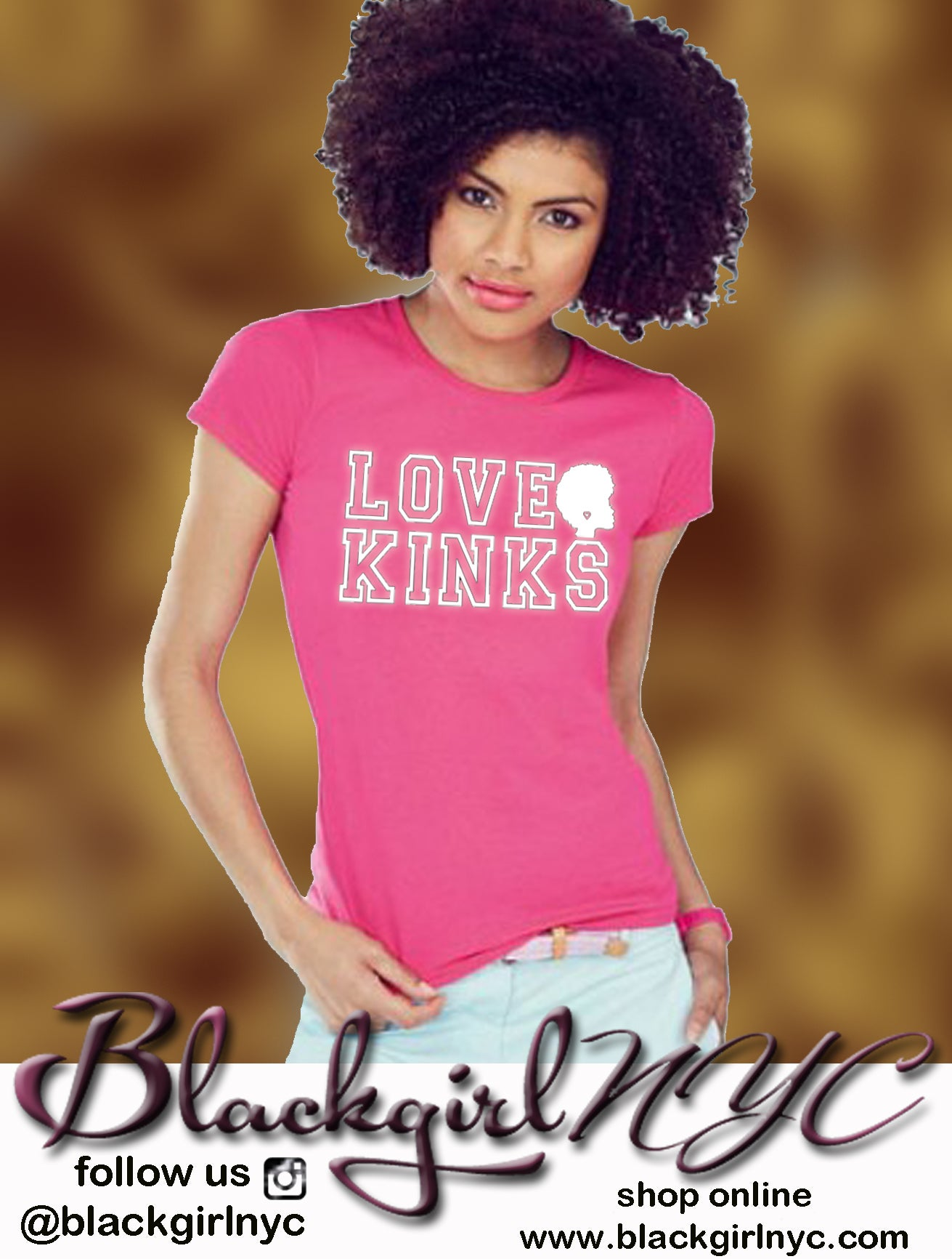 Image of LOVE KINKS /  PINK tee