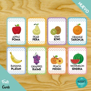 Image of Fruits Cards Bilingües