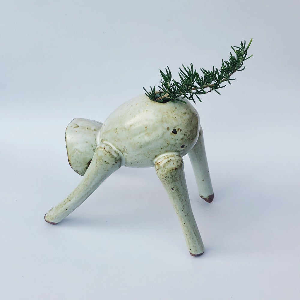 "Image of Downward Dog Vase - ""Black Socks"""