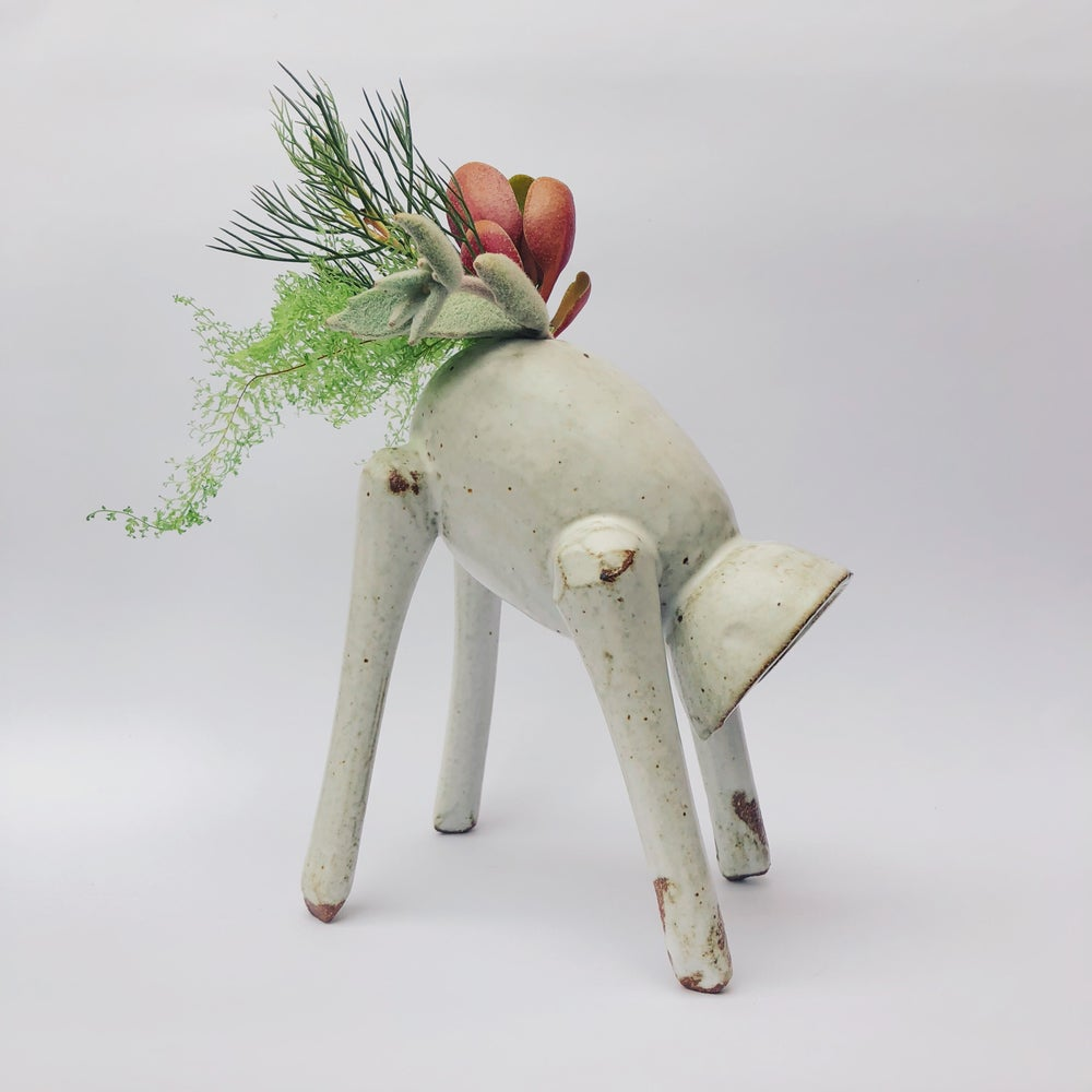 Image of Downward Dog Vase - Matte White