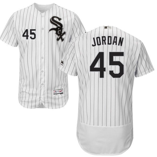 Image of Men's Chicago White Sox Michael Jordan White Black Collection Jersey