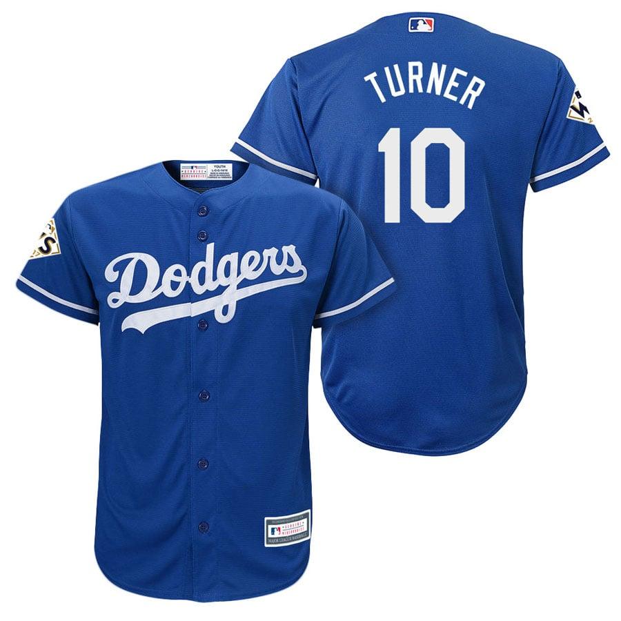Image of Men's Los Angeles Dodgers Justin Turner Blue Jersey