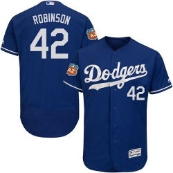 Image of 2017 Mens Los Angeles Dodgers 42 Jackie Robinson Blue Cool Base Jersey