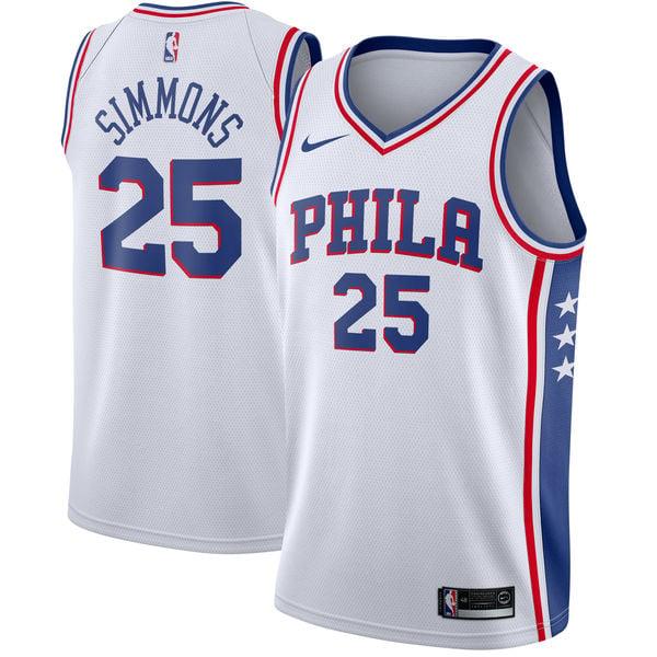 Image of Men's Branded Ben Simmons White Philadelphia 76ers Fast Break Home Jersey - Association Edi