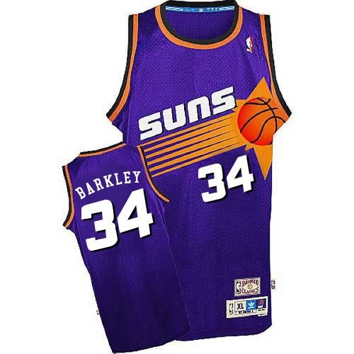 Image of Men's Suns #34 Charles Barkley Men's Purple Basketball Jersey