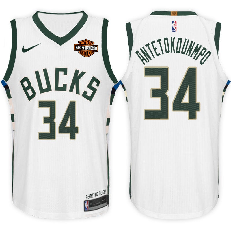 a84bc65f0bd Image of Men's Giannis Antetokounmpo Milwaukee Bucks Nike Swingman Jersey  White - Association Edition