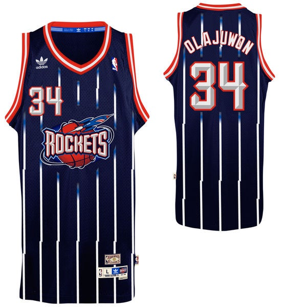 Hakeem Olajuwon #34 Houston Rockets Swingman Basketball Jersey Maillot Noir