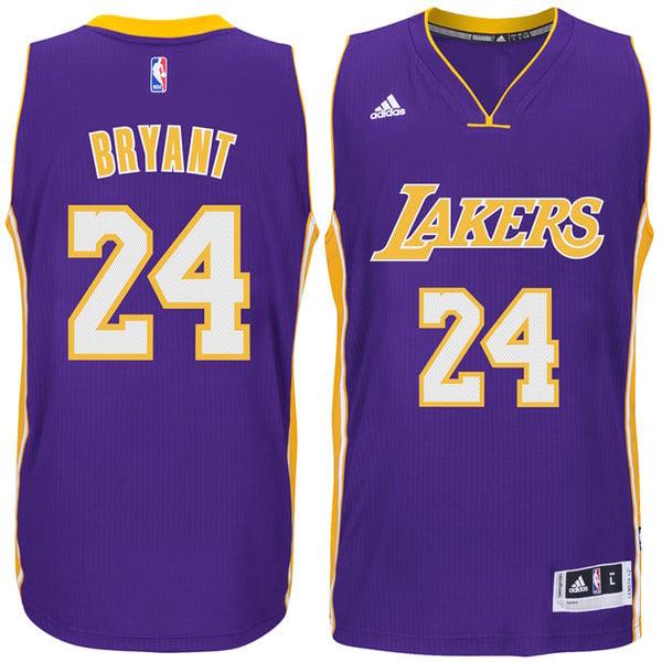 Image of Kobe Bryant Los Angeles Lakers Adidas Swingman Road NBA Jersey