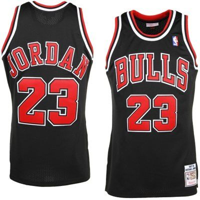 Image of Men's Vintage Michael Jordan Chicago Bulls Mitchell & Ness Black Jersey