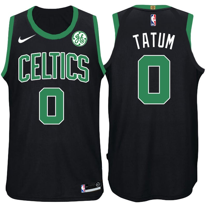 Image of Men's Celtics Jayson Tatum Nike Swingman Jersey Black