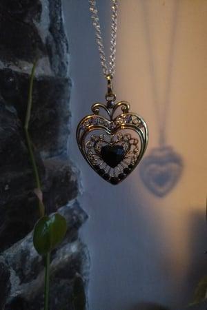Image of Pendant Black Heart Necklace