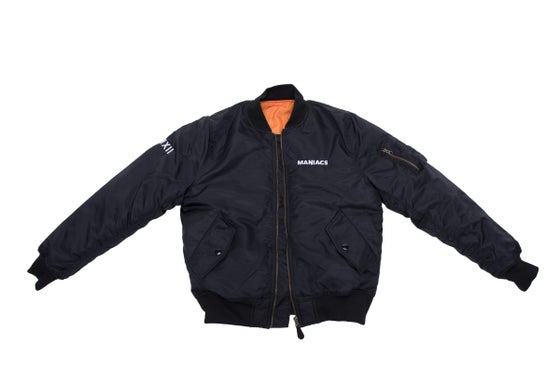 Image of BLACK MANIACS BOMBER JACKET