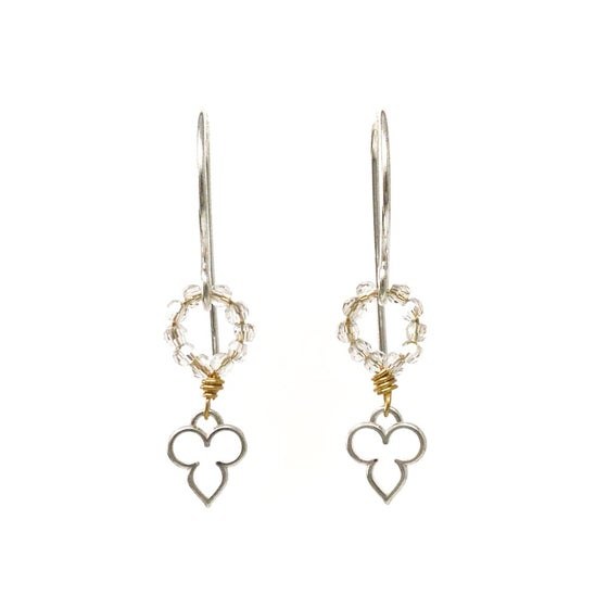 Image of Tiny yoga-inspired earrings