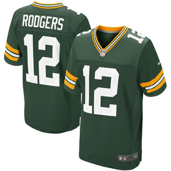 Image of Men's Aaron Rodgers Jersey Packers #12 Home Game Green
