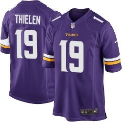Image of Men's Minnesota Vikings Adam Thielen Nike Purple Game Jersey