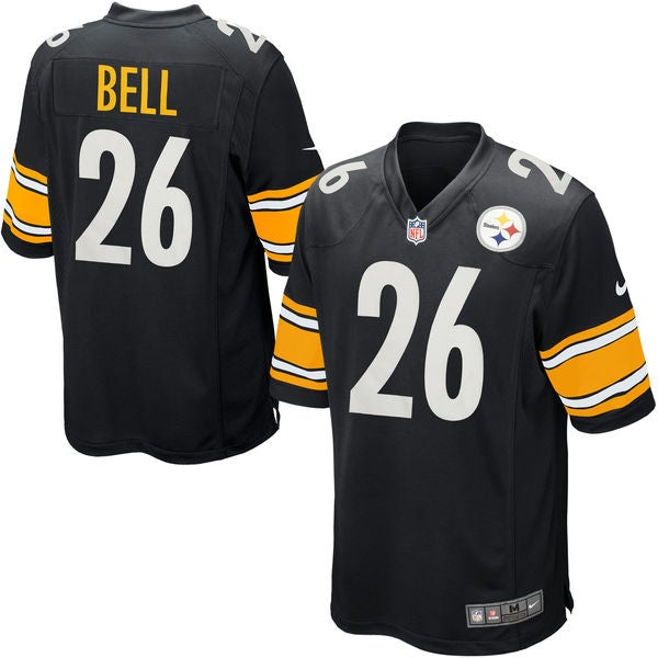 Image of Men's Pittsburgh Steelers Le'Veon Bell Nike Black Game Jersey