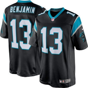 Image of Men's Carolina Panthers Kelvin Benjamin Nike Black Game Jersey
