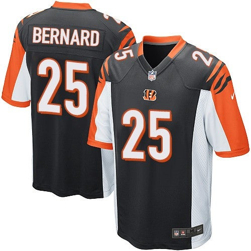 Image of Men's Cincinnati Bengals Giovani Bernard Nike Black Game Jersey