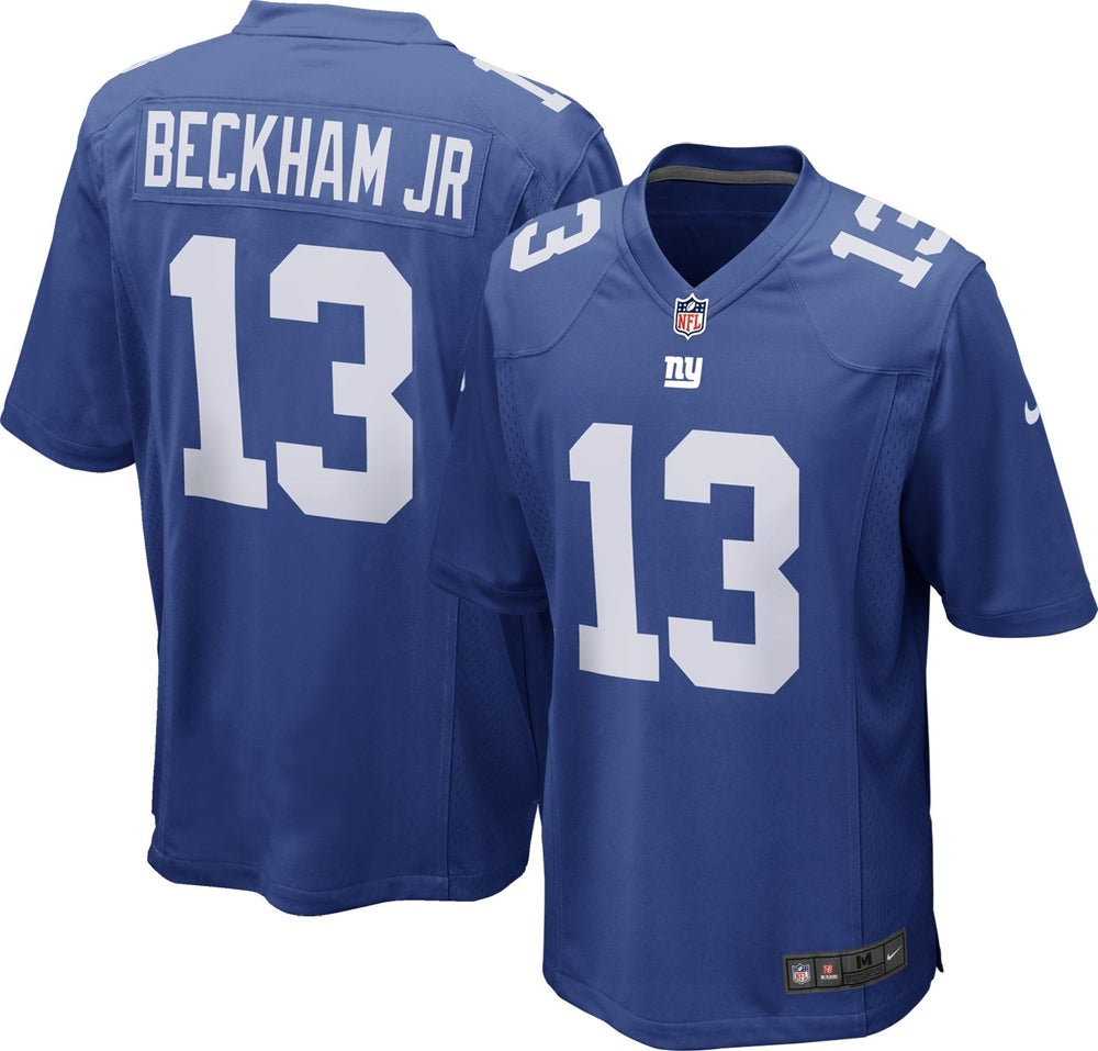 Image of Nike NFL New York Giants (Odell Beckham Jr.) Men's Football Home Limited Jersey