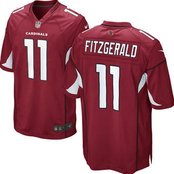 Image of Men's Arizona Cardinals Larry Fitzgerald Nike Cardinal Team Color limited Jersey