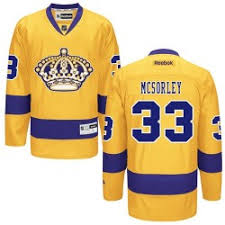 Image of Men's Martin McSorley Los Angeles Kings Yellow #33 Jersey