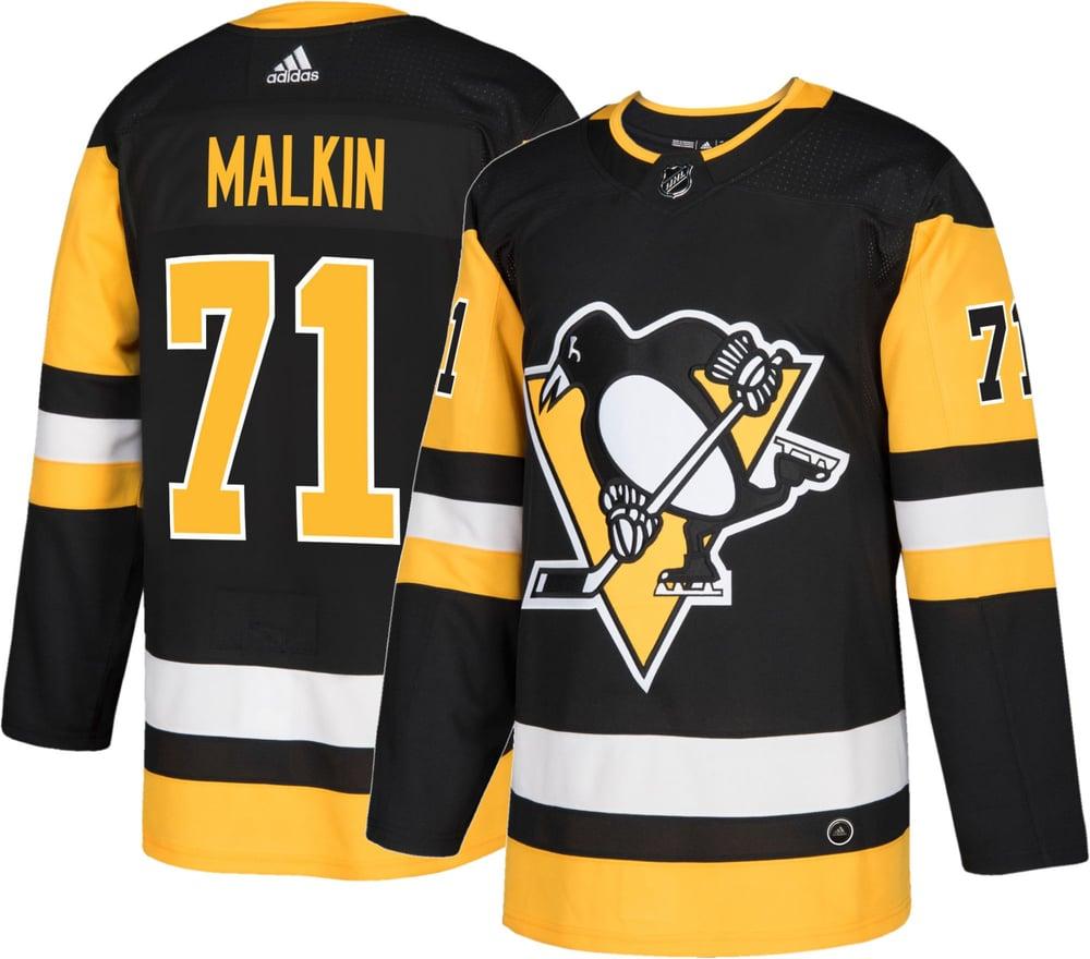 Image of Men's Pittsburgh Penguins Evgeni Malkin #71 Adidas Pro Home Jersey