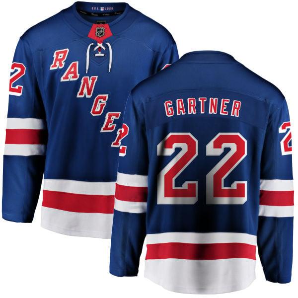 Image of Men's New York Rangers Mike Gartner Royal Blue Home Official Jersey