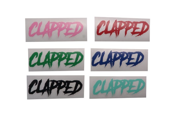 Image of Clapped VINYL Stickers