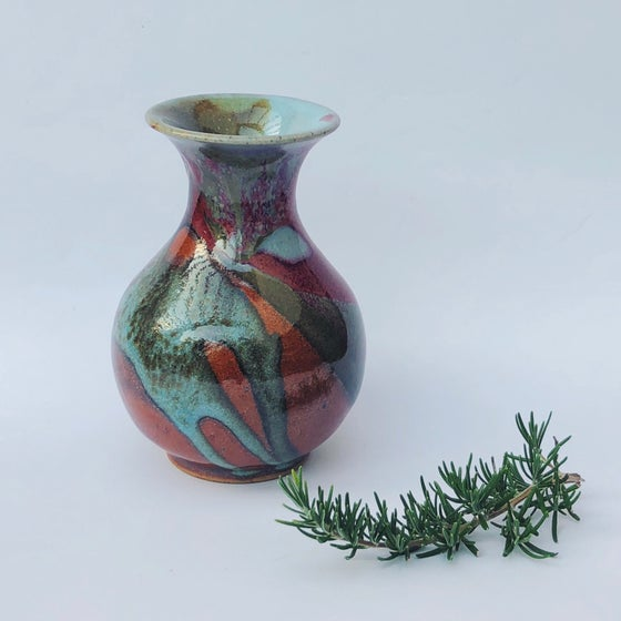Image of Layered Glazes Bottle Vase