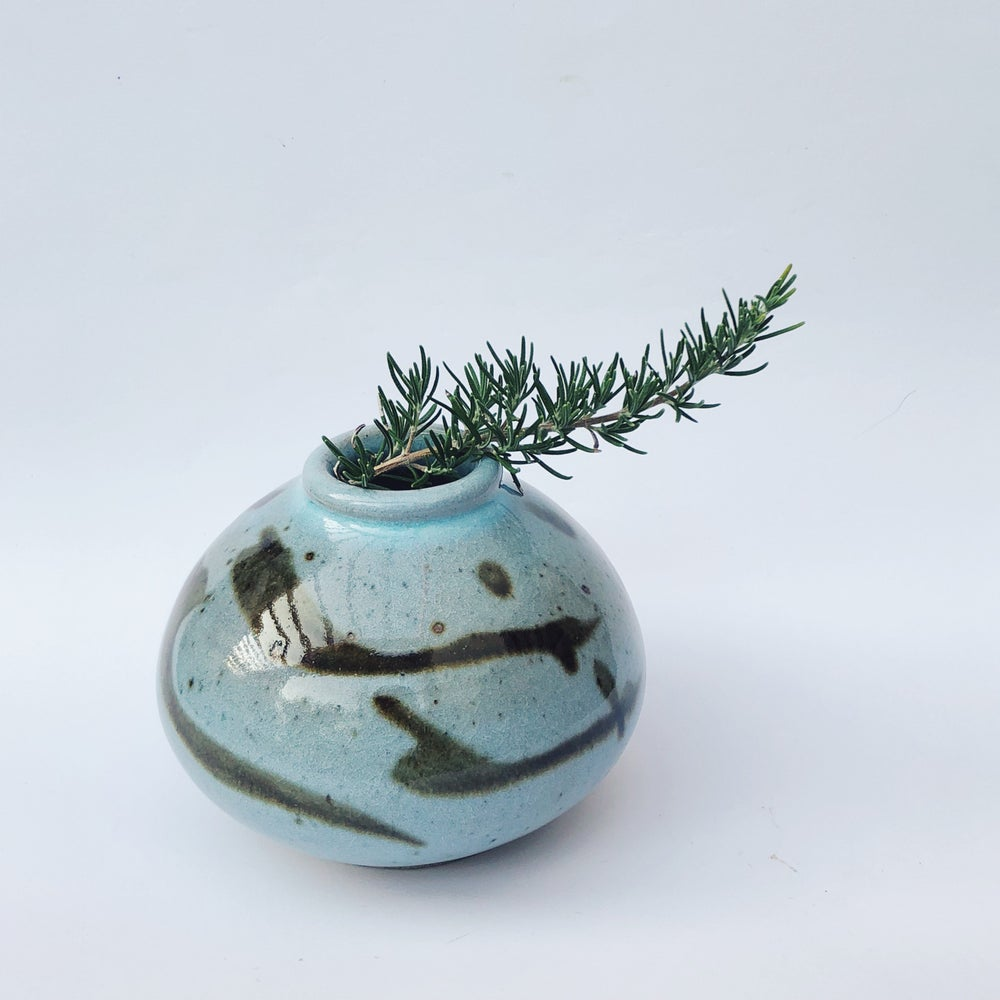 Image of Chun Blue with Brushstrokes Vase