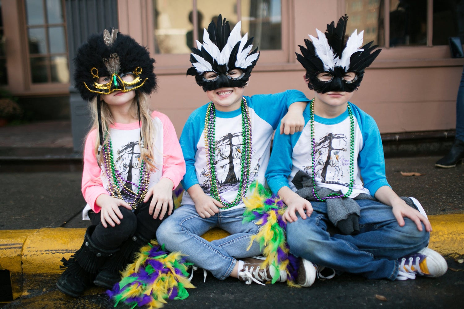 Image of Youth / Baby Mardi Gras Pelican Raglans