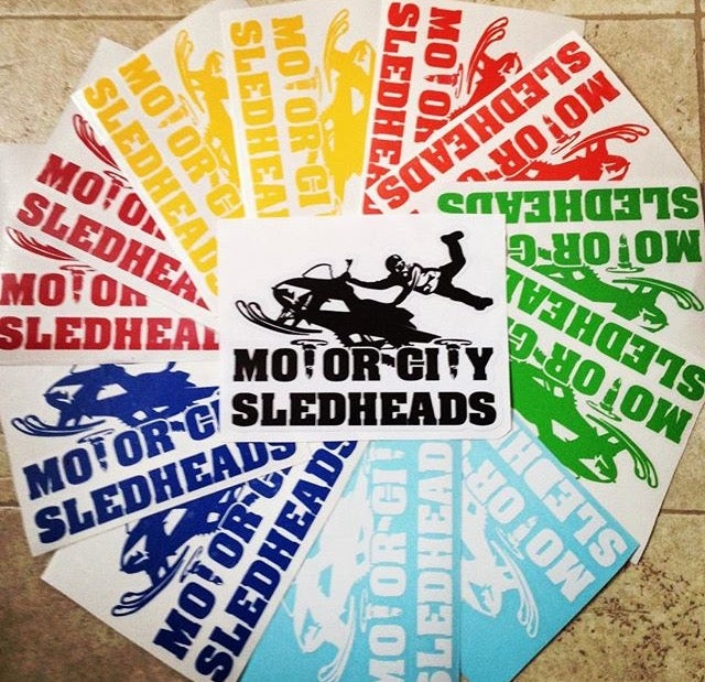 Image of Motor CitySledheads Decal