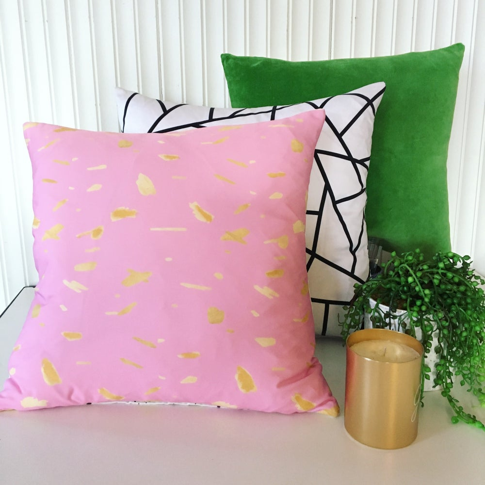 Image of Gold Splatter Musk Cushion Cover