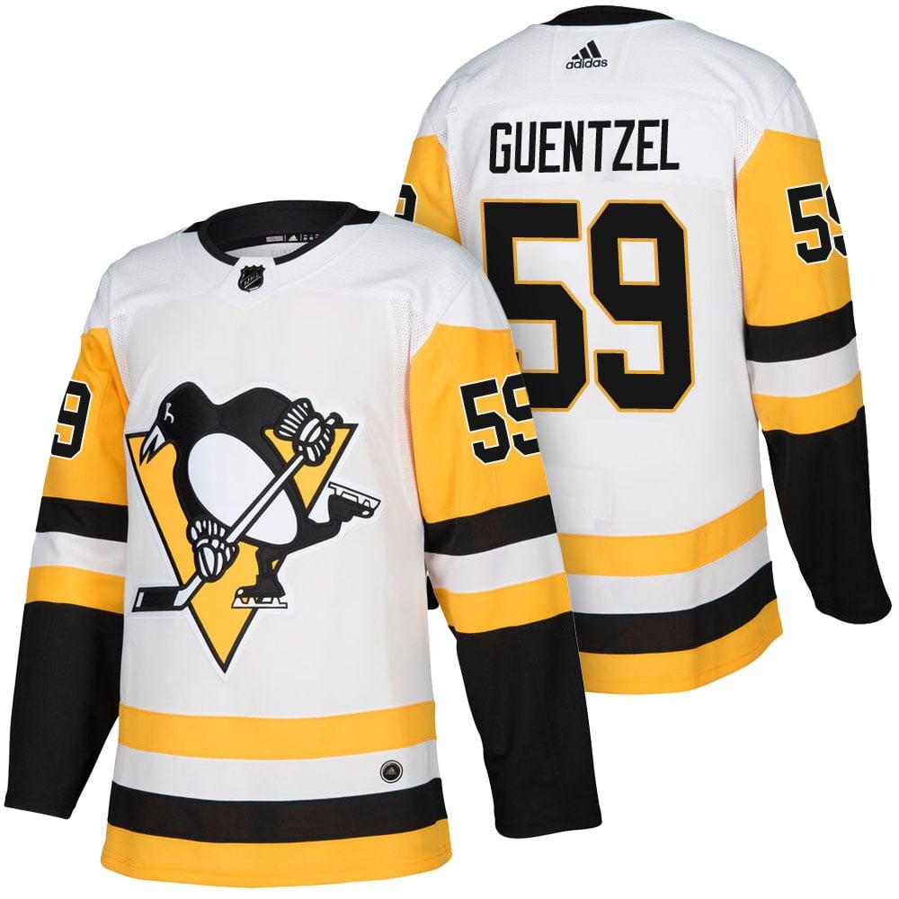 Image of Men's Jake Guentzel Pittsburgh Penguins #59 Adidas Adizero Nhl White Jersey