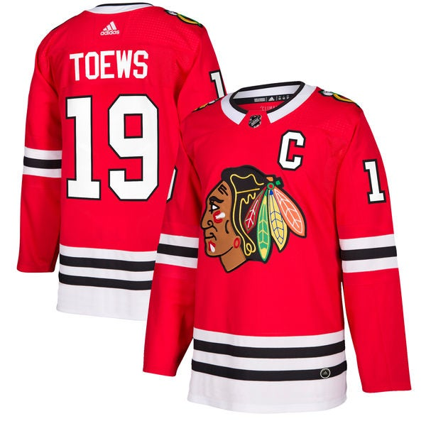 Image of Men's Chicago Blackhawks Jonathan Toews adidas Red Player Jersey
