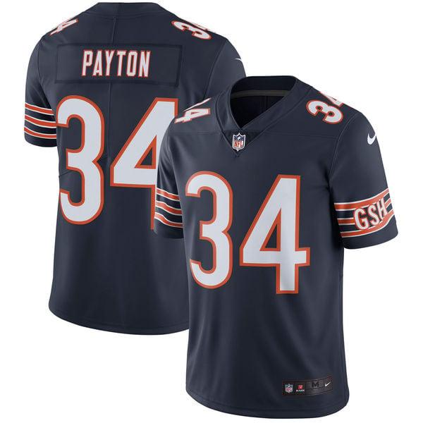 Image of Men's Chicago Bears Walter Payton Nike Navy Retired Player Game Jersey