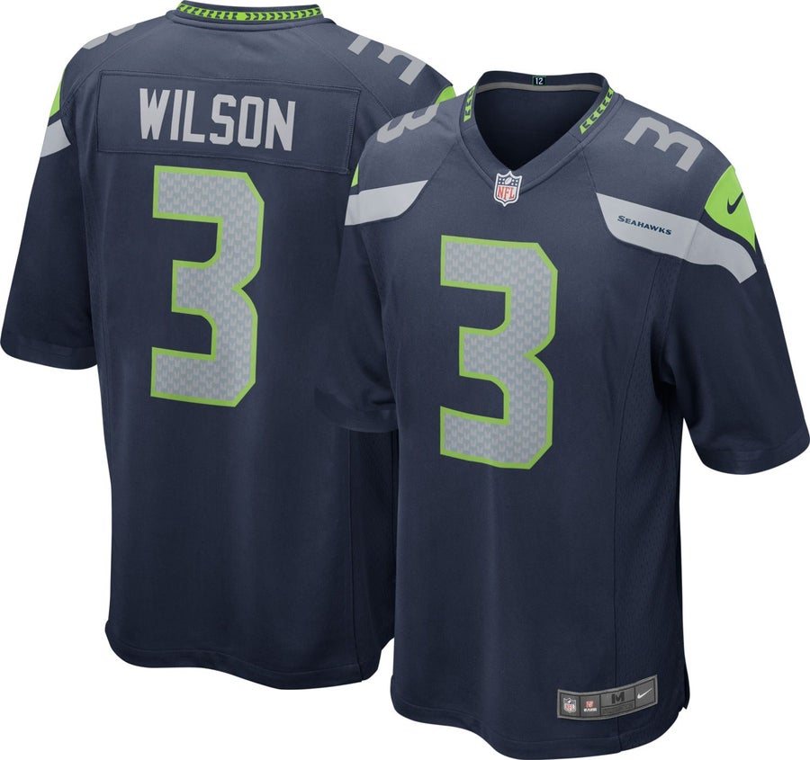 Image of Men's Russell Wilson Seattle Seahawks Nike Team Color Limited Jersey College Navy
