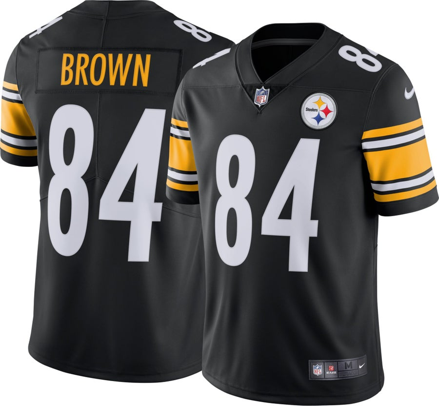 Image of Men's Pittsburgh Steelers Antonio Brown Nike Black Vapor Untouchable Limited Player Jersey